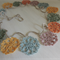 Linen 5 colour crochet garland.
